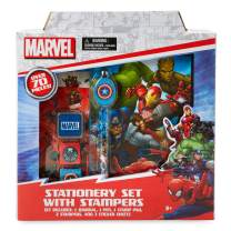 Marvel Stationery Set wtih Stampers Includes 1 Jounral, 1 Pen, 1 Stamp Pad, 2 Stampers, and 3 Sticker Sheets by Tri-Coastal Design