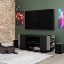 """NTENSE Circuit Gaming 54"""", Black TV Stand"""