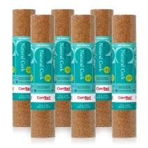 """Con-Tact Brand Cork Self-Adhesive Shelf and Drawer Liner for Crafters, 12"""" x 4', Natural, 6 Rolls"""