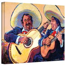 Art Wall Mariachi de Cabo Gallery Wrapped Canvas Art by Rick Kersten, 24 by 32-Inch