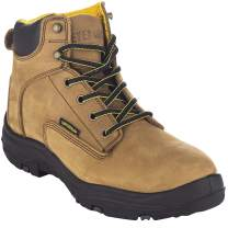 "EVER BOOTS ""Ultra Dry"" Men's Premium Leather Waterproof Work Boots Insulated Rubber Outsole"