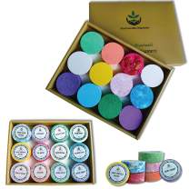 Aromatherapy Shower Steamers Gift Set. 12 Essential Oils Shower Bombs Individually Wrapped. Organic Spa Shower Tablets Gift Box Best Holiday Gift Idea for Men, Women and Teens! Paraben & Sulfate Free.