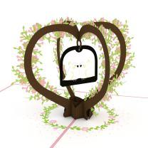 Lovepop Lovebirds Pop Up Card, 3D Card, Love Card, Valentine's Day Card, Romance Card, Cute Card, Couple Card, Wedding Card