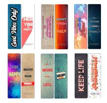 Creanoso She Designed a Life She Loved Bookmarks (60-Pack) - Six Assorted Quality Bookmarker Cards Bulk Set – Premium Gift for Girls, Teens, Women, Adults – Party Favors