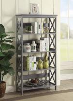 Convenience Concepts Oxford 5 Tier Bookcase, Gray