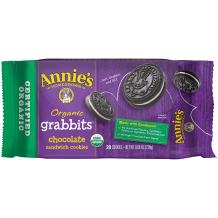 Annie's Organic Grabbits 20 Piece Chocolate Sandwich Cookies, 8.06 Ounce (Pack of 10)