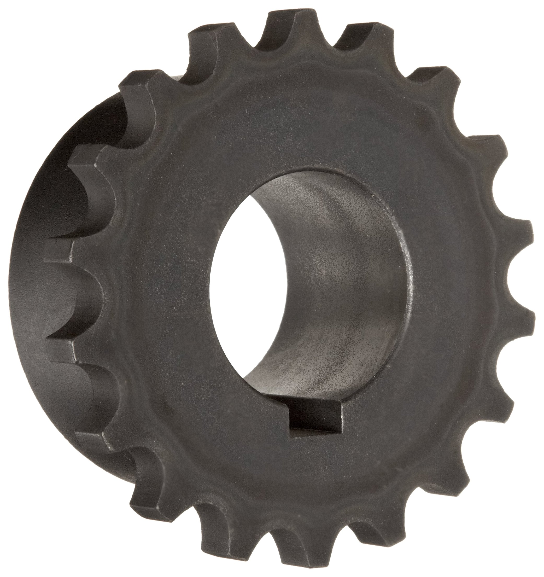 "Martin 5018 Roller Chain Coupling, Sintered Steel, Inch, 18 Teeth, 1 1/2"" Bore, 4 3/16"" OD, 1 11/16"" Length, 3600 rpm Max Rotational Speed, 3/8"" x 3/16"" Keyway"
