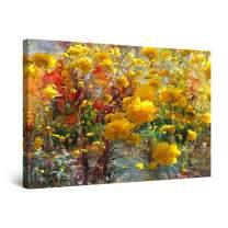 "Startonight Canvas Wall Art Beautiful Yellow Flowers Painting Framed 32"" x 48"""