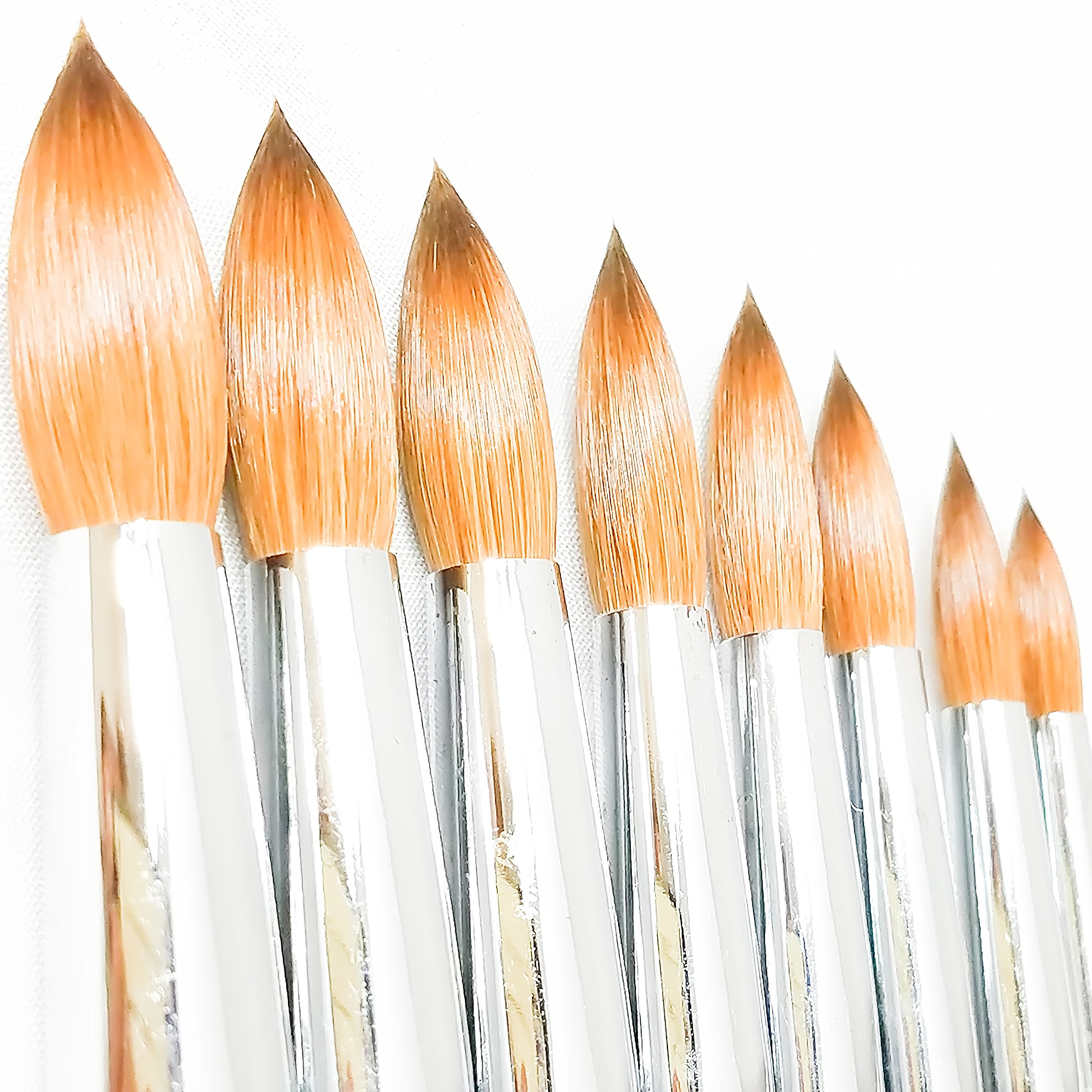 Professional 100% Real Kolinsky Acrylic Nail Brush for Gel 3D Powder Designs Nail Art Manicure Pedicure Wooden Handle High Quality (#8)