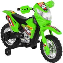 Best Choice Products 6V Kids Electric Battery Powered Ride On Motorcycle w/ Training Wheels, Lights, Music- Green