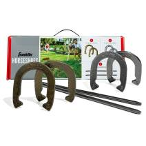 Franklin Sports Horseshoes Set - Includes 4 Horseshoes and 2 Stakes - Beach or Backyard Horseshoe Play - Classic Outdoor Game