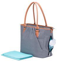 Premium Designer Diaper Bag Tote, Large and Lightweight Diaper Bag for Boys or Girls, Water-Resistant & Wipeable Baby Bag
