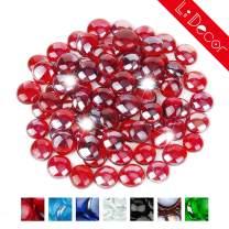 Li Decor 10 Pounds 1/2 Inch Fire Glass Gas Fireplace Glass Drops Fireglass Beads Outdoors Indoors Rubine Luster Red