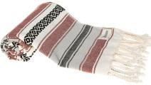 Bersuse 100% Cotton San Jose Handloom Turkish Towel-35X70 Inches, Burgundy
