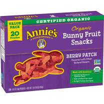 Annie's Organic Berry Patch Bunny Fruit Snacks, Gluten Free (20 Pouches)