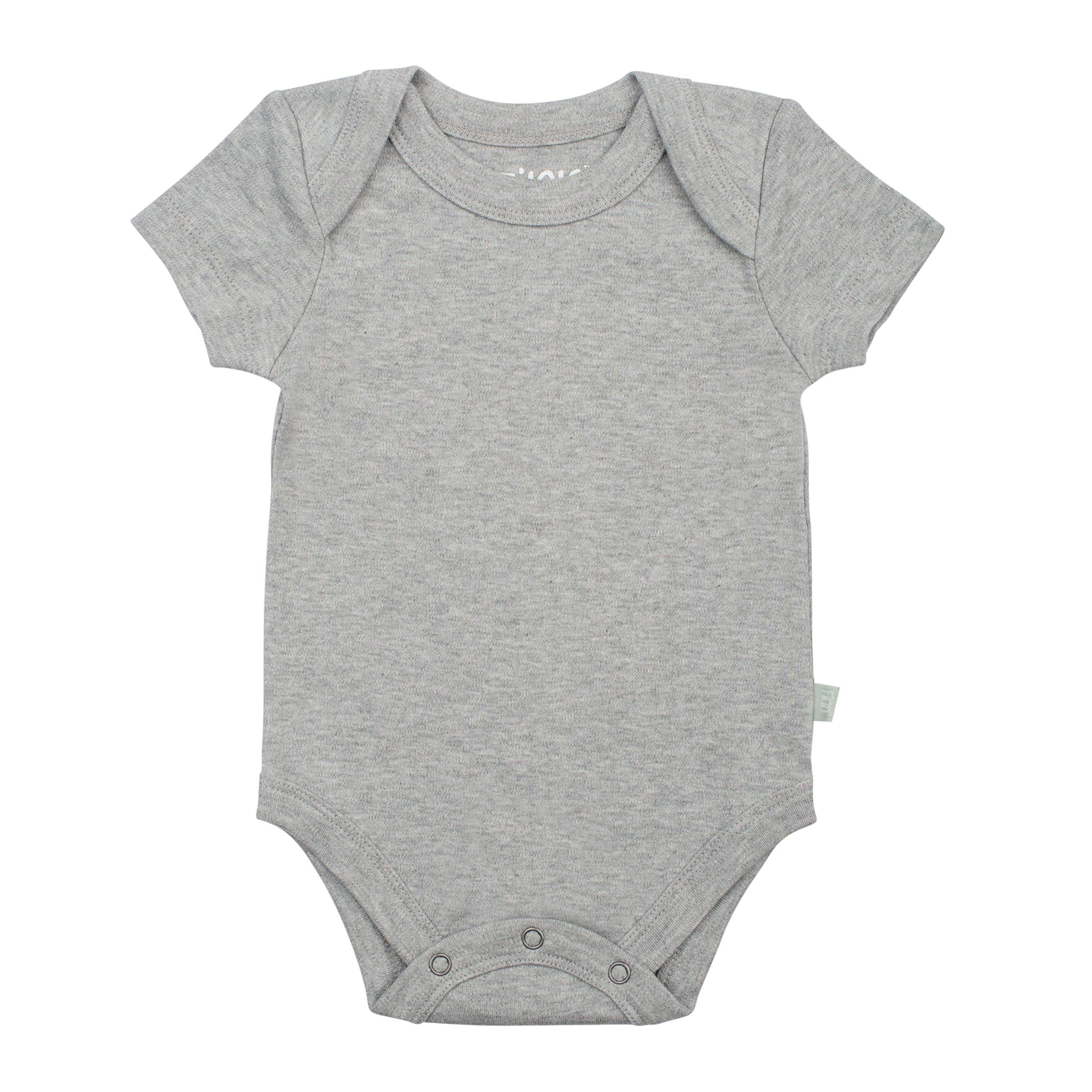 Finn + Emma Basics Organic Cotton Lap Baby Bodysuit - Heather Gray, 3-6 Months