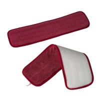 """Microfiber Damp Mop Pads - 2-Pack or 4-Pack - Reusable - Machine Washable - Hook and Loop - Commercial Grade - Reusable - Wet or Dry Floor Cleaning - 19"""" x 5.5"""""""