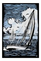 Sailboat - Scratchboard (Premium 1000 Piece Jigsaw Puzzle for Adults, 20x30, Made in USA!)
