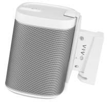 VIVO White Single Speaker Wall Mount Designed for SONOS Play 1 Bracket   Adjustable Mounting for 1 Play:1 Audio Speaker (MOUNT-PLAY1W-1)