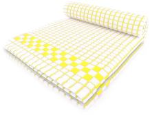 Fecido Classic Kitchen Dish Towels with Hanging Loop - Heavy Duty Absorbent Dish Clothes - European Made 100% Cotton Tea Towels - Set of Two, Yellow
