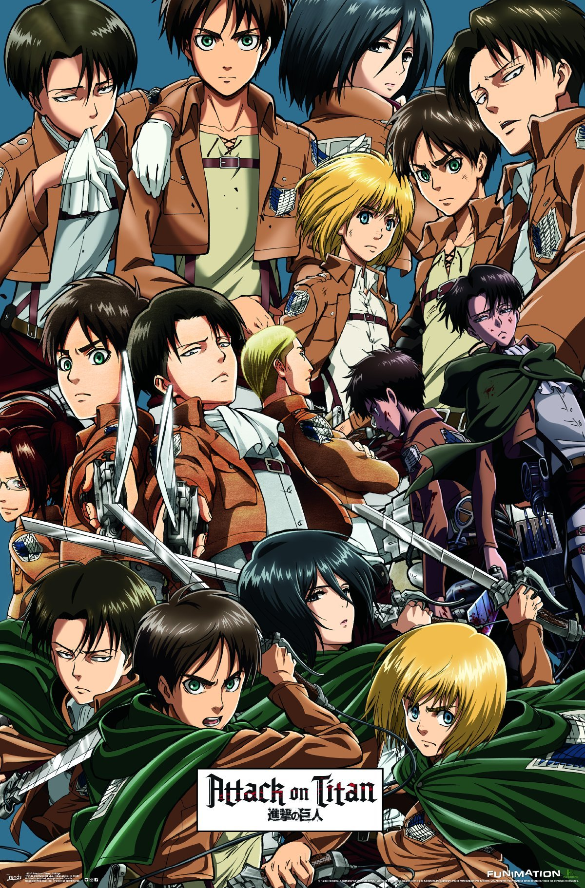 """Trends International Attack on Titan-Collage Premium Wall Poster, 22.375"""" x 34"""""""