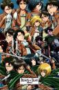 "Trends International Attack on Titan-Collage Premium Wall Poster, 22.375"" x 34"""