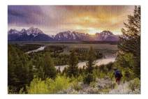 Grand Teton National Park, Wyoming 9001417 (Premium 1000 Piece Jigsaw Puzzle for Adults, 20x30, Made in USA!)