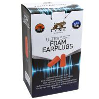 Lynx Ultra Soft Foam Ear Plugs, [200 Pairs], 32dB Highest NRR, Very Comfortable Hearing Protection - Earplugs for Sleeping, Snoring, Studying, Travel and More