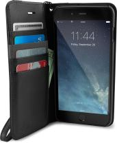 Smartish Silk iPhone 8 Plus / 7 Plus Wallet Case - Keeper of The Things - Folio Wallet Synthetic Leather Portfolio Flip Credit Card Cover with Kickstand - Black Tie Affair