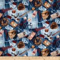 Timeless Treasures Vintage Sports Baseball Navy Fabric by The Yard