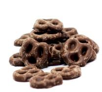 Gourmet Chocolate Covered Mini Pretzels by Its Delish (Milk Chocolate, 5 lbs)