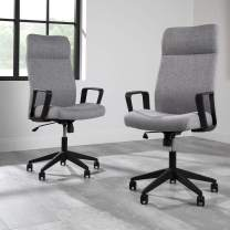 HON BASYX BSX110 Executive Chair with Integrated Headrest, Grey