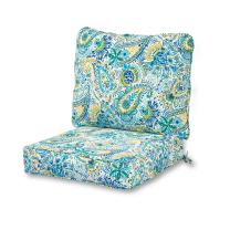 Greendale Home Fashions AZ7820-BALTIC Paisley Outdoor 2-Piece Deep Seat Cushion Set
