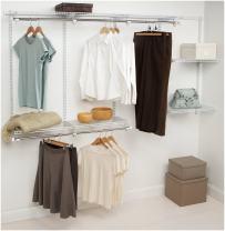 Rubbermaid Configurations Closet Kits, 4-8 ft., White (FG3G5902WHT)