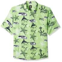 FOCO NFL Mens Floral Tropical Button Up Shirt