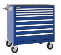 """Kennedy Manufacturing 3900MPBL 39"""" 8-Drawer Rolling Tool Cabinet, Workstation with Chest and Wheels, Classic Blue"""