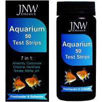JNW Direct 7 in 1 Aquarium Test Strips - 50 Count, Best Kit for Accurate Water Quality Testing for Saltwater & Freshwater Aquariums and Fish Ponds