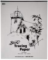 Sax Tracing Paper Pad, 25 lbs, 19 x 24 Inches, White, Pack of 50 - 418612