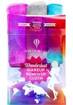 RAINBOW ROVERS Makeup Remover Cloths |Set of 3| Reusable & Ultra-fine Makeup Towels | Suitable for All Skin Types | Removes Makeup with Just Water | Free Bonus Waterproof Travel Bag | Daydreamer