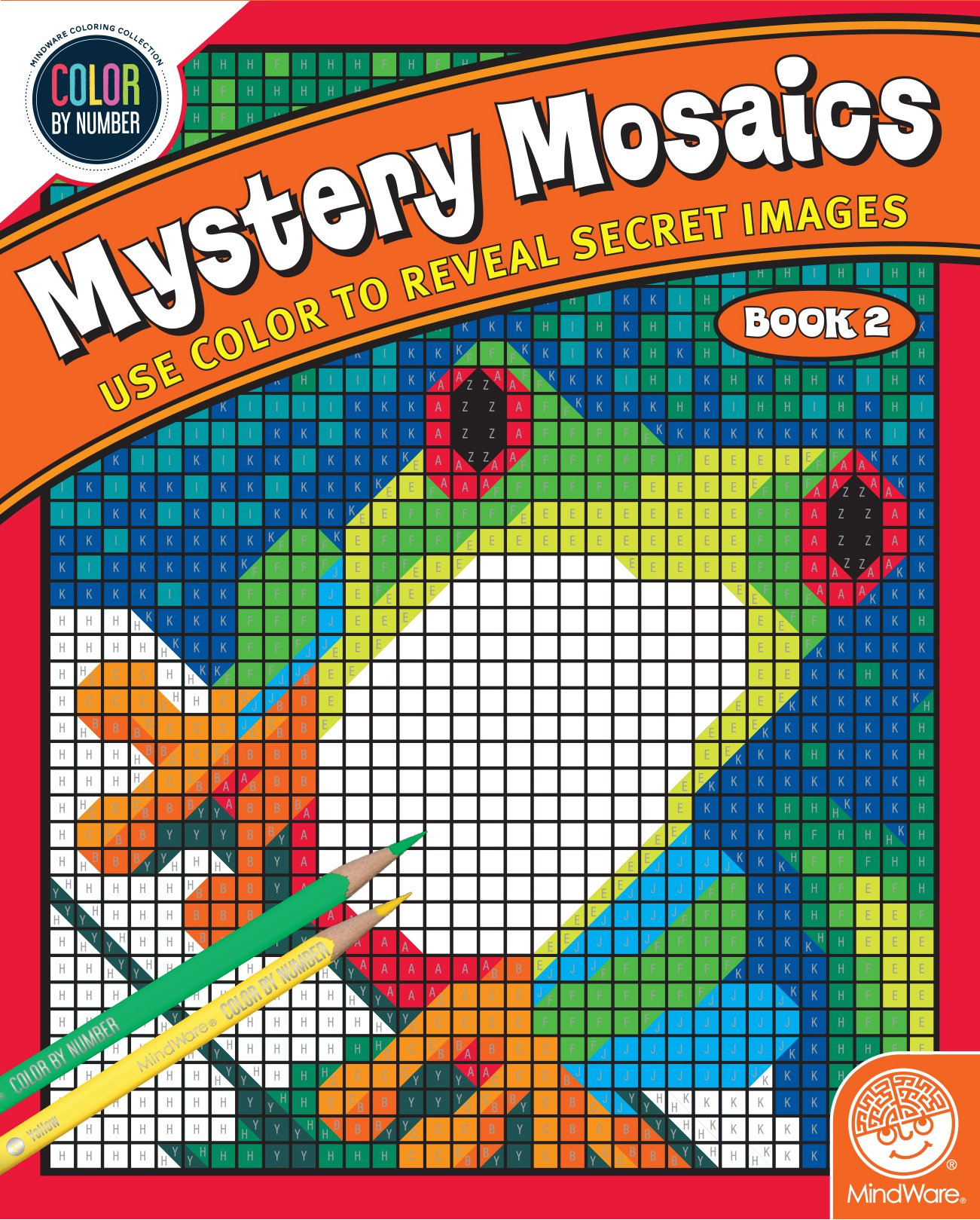 MindWare Color by Number Mystery Mosaics: (Book 2), Multi Color