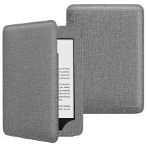 MoKo Case Fits All-New Kindle (10th Generation - 2019 Release), Auto Wake/Sleep Lightweight Protective Shell Cover with Pocket, Will Not Fit Kindle Paperwhite 10th Generation 2018 - Denim Gray