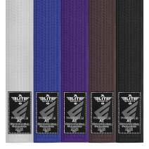 Elite Sports BJJ Belt MMA Jiu Jitsu Rank GI Belt for Men, Women, and Kids