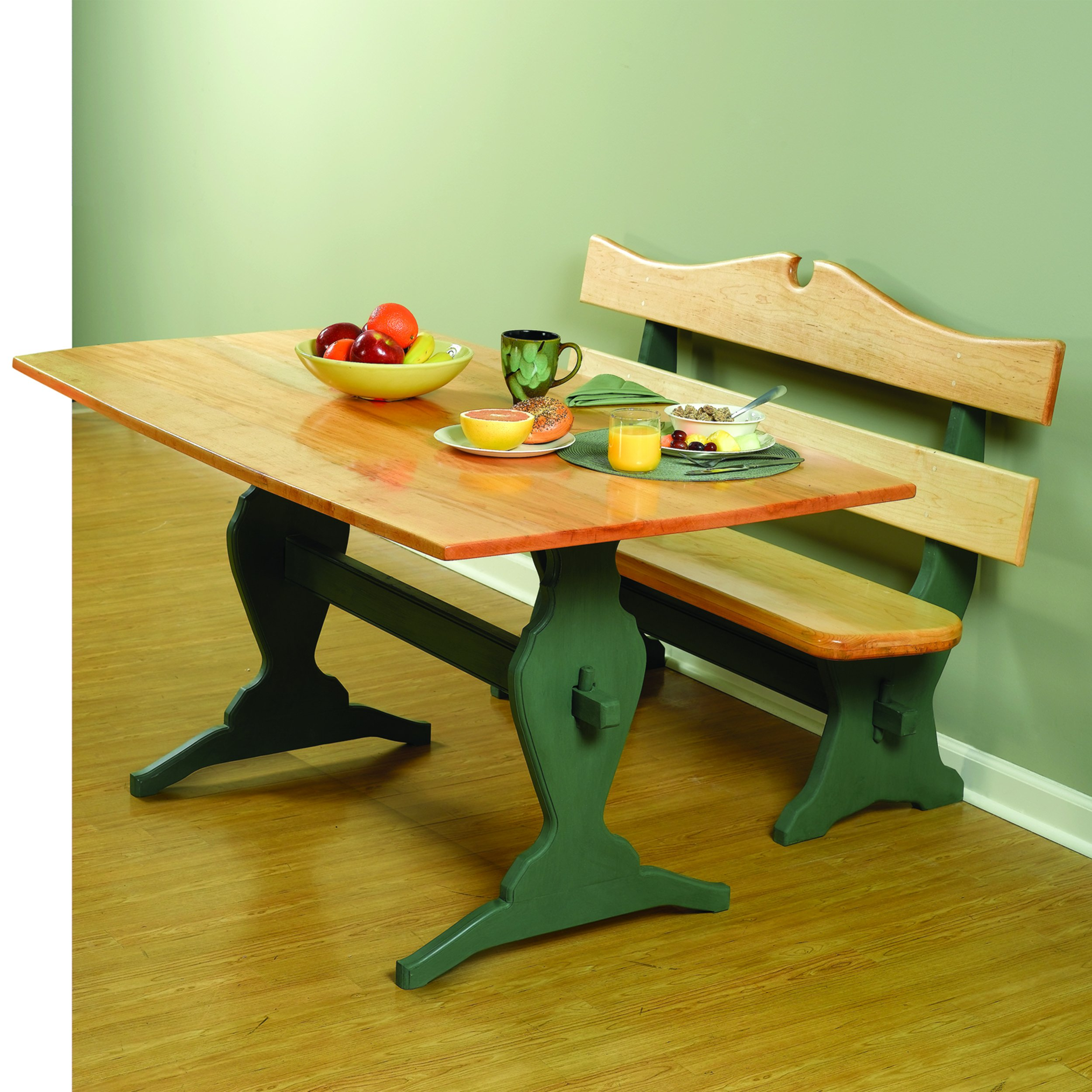 Woodworking Project Paper Plan to Build Trestle Table and Benches