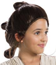 Rubie's Star Wars Episode-VII Rey Child's Wig, Multicolor