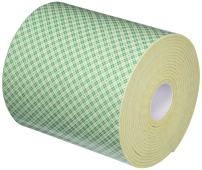 "3M 4008 Natural Polyurethane Double Coated Foam Tape, 0.25"" Width x 5yd Length (1 roll)"