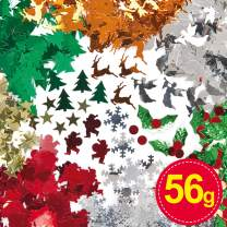 Baker Ross Christmas Sequins Value Pack — Kids' Crafts and Art Projects, Cards, Party Bags, and Decorations (56g)