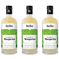 Hella Cocktail Co.   Classic Margarita Premium Mixers, All Natural Ingredients, Made with Real Lime Juice -Perfect for Holiday Cocktail Drinks  750ml, 3-Pack