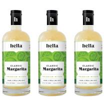 Hella Cocktail Co. | Classic Margarita Premium Mixers, All Natural Ingredients, Made with Real Lime Juice -Perfect for Holiday Cocktail Drinks |750ml, 3-Pack