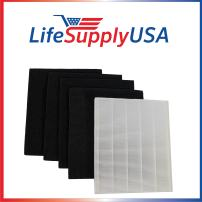 LifeSupplyUSA 4 Pack Replacement HEPA Filter Sets Compatible with Winix Size 17 (113050) P150 and B151