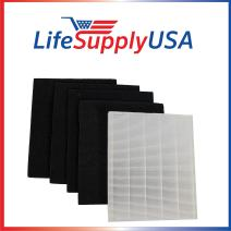 LifeSupplyUSA Replacement HEPA Filter Set Compatible with Winix Size 17 (113050) P150 and B151